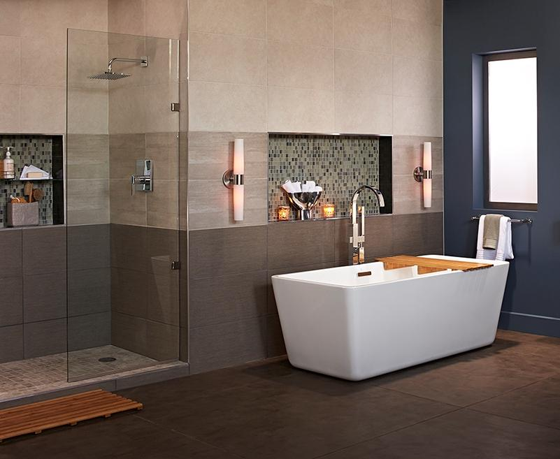 tile wainscoting in bathroom showers amp baths 20899